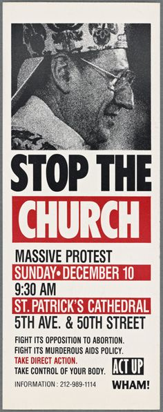 Image result for ACT UP Stop the Church