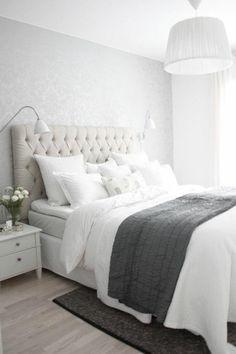 schlafzimmer dekorieren weißes bett schlafzimmer einrichten
