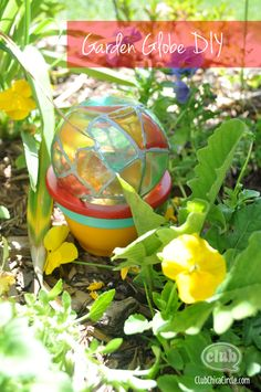 Garden Globe Painted Craft Idea by Club Chica Circle