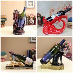 Resin Sculpture Wine Rack Bottle Holder Animal Chinese Craft Art Home Decor Gift