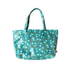Small cotton shopping bag coated green Poppy