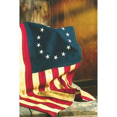 Betsy Ross Flag — 27 1/2in.L x 17in.W