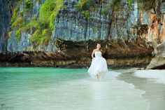Destination wedding. Thailand. #bride #beach #dress Click the picture to see the whole photoshoot!