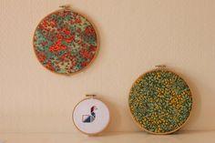 "4"" Tangram Swan Cross Stitch - Hoop Wall Art"