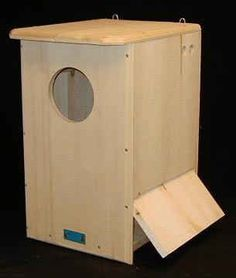 Barred Owl House - Owl Houses / Owl Nesting Boxes - owl houses, owl nesting boxes, barn owl houses, saw-whet and screech owl houses, barred owl houses Bird House Plans, Bird House Kits, Owl House, Owl Nest Box, Owl Box, Screech Owl, Barred Owl, Bird Boxes, Nesting Boxes