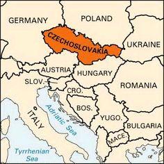 czechoslovakia | Czechoslovakia: location -- Kids Encyclopedia | Children's Homework ...