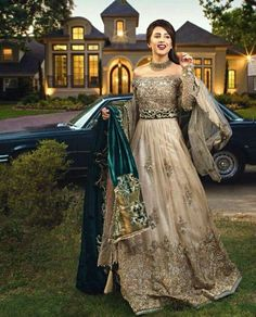 Our latest bridal campaign featuring the gorgeous and very talented actor Makeup, hair and photography: Jewelry: # with ・・・ The fashion powerhouse combines the pure essence of ethereal beauty and regal design inspiration with their latest c. Pakistani Bridal Dresses, Pakistani Outfits, Bridal Lehenga, Indian Dresses, Indian Outfits, Wedding Lehnga, Walima Dress, Pakistani Clothing, Eid Dresses