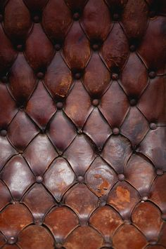 Nothing beats a great button tufted well worn leather.