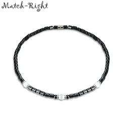 65a33a9fc8 US $1.99 30% OFF|Match Right Women Health Energy Healing Black Hematite  with Magnetic Therapy of Beads Necklace for Women Jewelry LG101-in Pendant  Necklaces ...