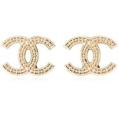 Pre-owned Chanel Interlocking C Earrings ($330) ❤ liked on Polyvore featuring jewelry, earrings, gold, pre owned jewelry, chanel jewelry, earring jewelry, chanel jewellery and preowned jewelry