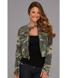 Cropped camo jacket from Textile Elizabeth and James. #military #styleinspiration #zappos