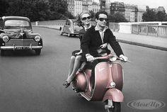 Paris Pink Vespa Scooter Poster   Available on http://closeup.de