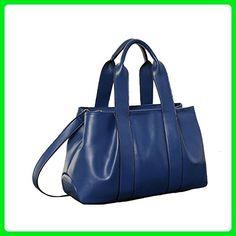 109b479e0f4d Angelliu Women Vintage European Style Soft Leather Handbag Shoulder Bag  Large Capacity Bags Dark Blue - Shoulder bags ( Amazon Partner-Link)