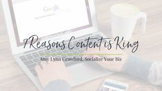 7 Reasons Content is King - Socialize Your Biz With Amy Lynn Crawford Small Business Marketing, Content Marketing, Online Marketing, Social Media Marketing, Lynn Crawford, Digital Strategy, Blog Page, Amy, Blogging