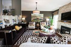 Opening up of familyroom. Colourworks Interior Design
