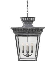 Visual Comfort CHC5050WZ E. F. Chapman Elsinore Hanging Lantern in Weathered Zinc