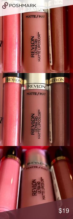 Revlons Bestselling Lip-Stains & Ultra HD Gloss These are some of Revlon's best formulated lippies .  ULTA HD Matte and 2 of Revlons Super Lustrous Intense Lip Moisturizing lip glosses giving your lips a moisturizing shine. Non-sticky feel. A silky gloss that boosts hydration and plumps lips with moisture for a colorful glamorous shine. Revlon Makeup Lipstick