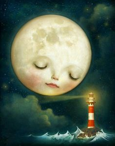 Items similar to Little Night Friend archival print -- Choose your own - baby childrens art moon art baby shower print night - by Meluseena on Etsy Art Soleil, Wallpaper Flower, Sweet Moon, Art Fantaisiste, Moon Dance, Vintage Moon, Moon Illustration, Moon Pictures, Moon Pics