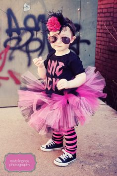 Now THAT is a little rocker girl! She's got more style than me lol