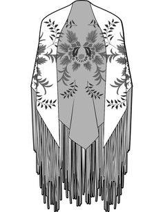 ED200710 Flat Drawings, Flat Sketches, Kaftan, Croquis Fashion, Clothing Sketches, Fashion Templates, Fashion Figures, Fashion Sketchbook, Fashion Design Sketches