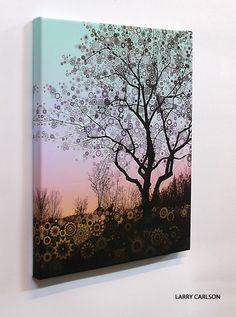 WINTER STAR TREE TWO Canvas 160 The Framed CanvasSide