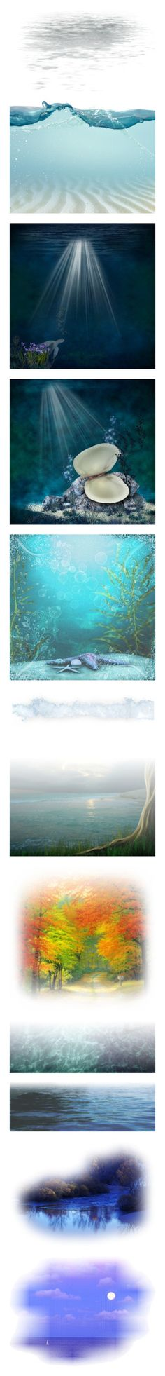 """""""Water"""" by stephanielee4 ❤ liked on Polyvore featuring effects, shadows, water, filler, decoration, backgrounds, borders, picture frame, ocean and sea"""