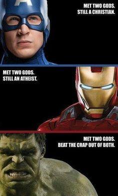 Hulk beats the crap outta everyone but it's even better when it's gods!