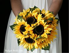 Camouflage Wedding with Sunflowers | At Budget-Bride.com we want tomake sure that your wedding flowers are ...