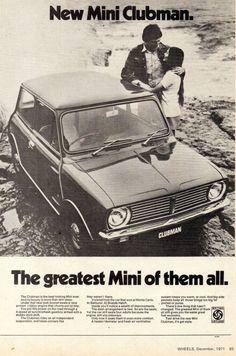Classic Mini, Classic Cars, Classic Auto, Car Advertising, Ads, Van Car, Australian Cars, Mini Clubman, Weird And Wonderful
