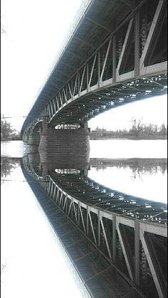Bridge Litoměřice Reflection, Bridge, Bridges, Attic, Bro