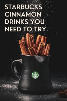 The brilliant idea of Starbucks' baristas to a dash of cinnamon to some of their drinks begun decades ago. Cinnamon is famous for its unique taste, so it's added to drinks, pastries, and other snacks. In this article, we explore the different ways how cinnamon adds value to each coffee drink. I will also list some of the coffee drinks served with cinnamon from Starbucks so keep reading to find out something new. #starbucks #coffee Coffee Cream, Coffee Type, Black Coffee, Cinnamon Drink, Cinnamon Coffee, Starbucks Specials, Iced Chai Tea Latte, Cinnamon Dolce Latte, Ice Caramel Macchiato
