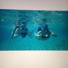 Snorkelling with claudia