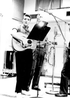 Recording session, 1956. Maybe it's about time I just started an Elvis board.