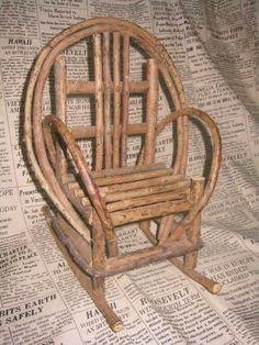 Minature Willow Rocker Chair