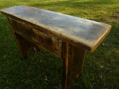 Reclaimed Barn Wood Bench great for a mud room by LotusWoodcrafts