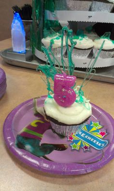 Frozen fountain cupcake