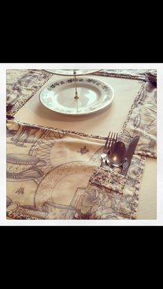 Place mats with cutlery pocket, set of Place Mats, Cutlery, Rolex Watches, Pocket, Sweet, Accessories, Fashion, Candy, Moda