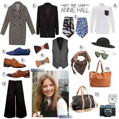 Annie Hall's look http://blog.baleeblu.co.uk/annie-hall-style/