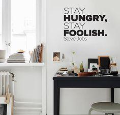 "Adesivo de Texto ""Stay Hungry"", by I-Stick"