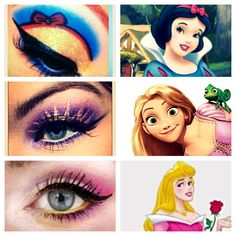 Lol Disney inspired eyeshadow-this is surprisingly entertaining
