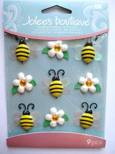 Bees Dimensional Stickers  Jolee's Boutique  by ThePrettyPaperShop, $4.39