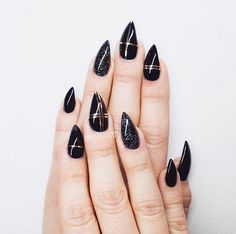 A chic take on a grungy manicure.