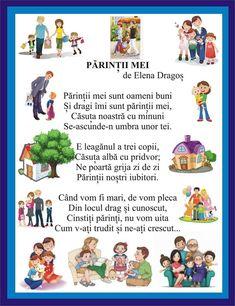 Preschool At Home, Preschool Activities, Romanian Language, Nursery Rhymes, Kids And Parenting, Kindergarten, Poems, Parents, Comics
