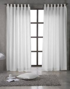 cortinas con barra de aceros Home Curtains, Curtains Living, Living Room Windows, Curtains With Blinds, Living Room Interior, Panel Curtains, Living Room Decor, Feature Wall Bedroom, Bedroom Wall