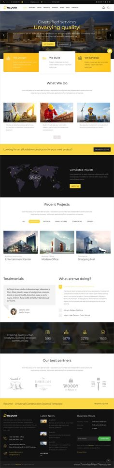 Recover is clean and modern design multipurpose responsive Joomla template for #construction and #building company website with 12+ niche homepage layouts download now..