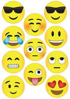 Emoji Garland from Pure Sweet Joy. Free Emoji Printables, Emoji Painting, Emoji Images, Child Day, Photo Booth Props, Valentine Crafts, Kids Cards, Crafts For Kids, Birthday