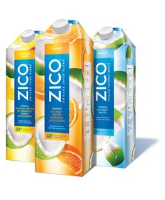 Zico Chilled Premium Coconut Water & Juice Blends from Zico Beverages is described as a 'first-of-its-kind coconut water-based product', combining chilled coconut water with fruit juice. Juice Branding, Juice Packaging, Beverage Packaging, Juice Drinks, Smoothie Drinks, Juice 2, Zico Coconut Water, Tetra Pak, Coconut Drinks