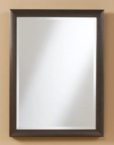 "Metal Mirror - multiple sizes #221 - 23""w, 1.75""d, 31""h (pictured) #222 - 25.5""w, 1.75""d, 37.5"""
