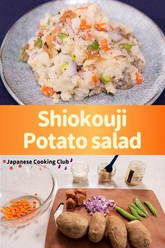 Shiokouji potato salad #japanesefood #japanesecooking #japanesestyle #shiokouji #salad #potato #miso #umeboshi #plantbased #healthy Asian Recipes, Crockpot Recipes, Soup Recipes, Chicken Recipes, Lunch Recipes, Vegetarian Recipes, Healthy Recipes, Japanese Dishes, Japanese Food