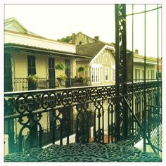 French Quarter rooftops after a rain.